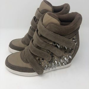 Aldo High Top Wedge Sneakers size 9